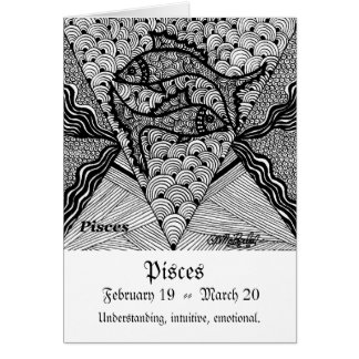 Pisces  (Zodiac sign) Greeting Card
