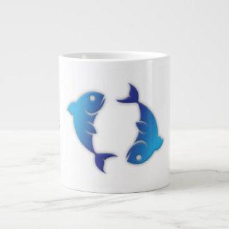 Pisces Zodiac Sign Jumbo Mug