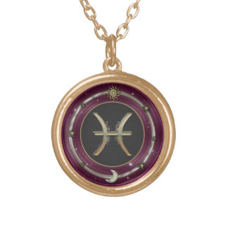 Pisces Zodiac Sign Pendant