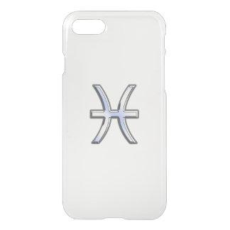 Pisces Zodiac Sign on Blue Carbon Fiber iPhone 7 Case