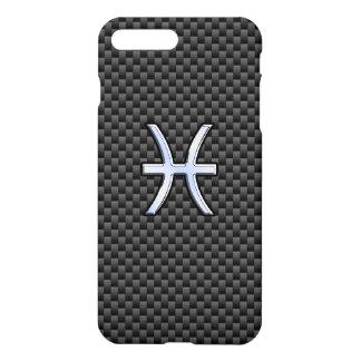 Pisces Zodiac Sign on Carbon Fiber iPhone 7 Plus Case