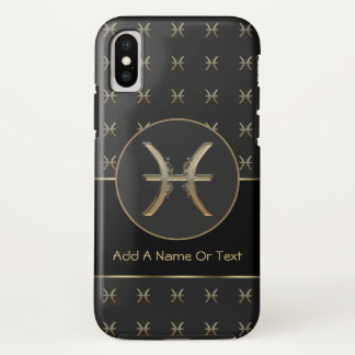 Pisces Zodiac Sign Personalized iPhone X Case