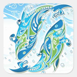 Pisces Zodiac Sign Square Sticker