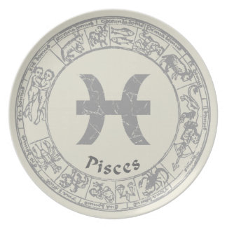 Pisces Zodiac sign vintage Dinner Plate