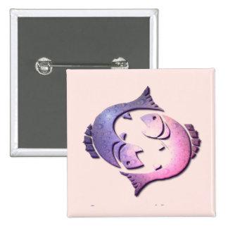 Pisces Zodiac Square Pin