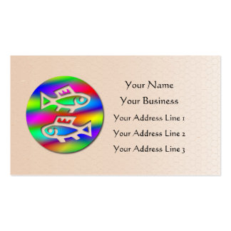 Pisces Zodiac Star Sign Rainbow Salmon Fish Business Card Templates