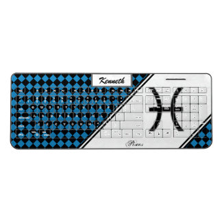 Pisces Zodiac Symbol Standard by Kenneth Yoncich Wireless Keyboard