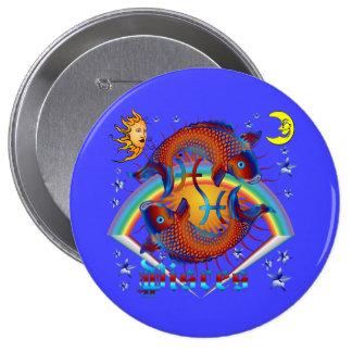 Pisces-Zodiac-V-1 10 Cm Round Badge