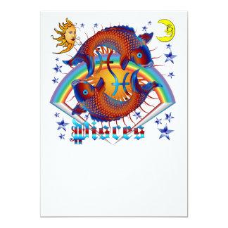 Pisces-Zodiac-V-1 13 Cm X 18 Cm Invitation Card