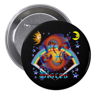 Pisces-Zodiac-V-1 7.5 Cm Round Badge