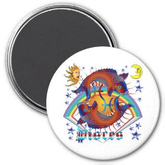Pisces-Zodiac-V-1 7.5 Cm Round Magnet