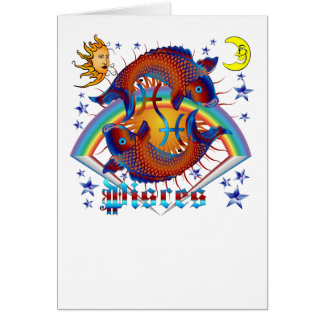 Pisces-Zodiac-V-1 Greeting Cards
