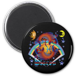 Pisces-Zodiac-V-1 Fridge Magnet