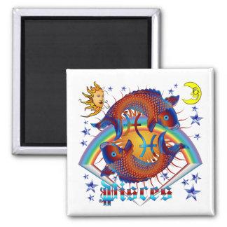 Pisces-Zodiac-V-1 Square Magnet