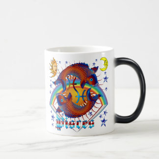 Pisces-Zodiac-V-1 11 Oz Magic Heat Color-Changing Coffee Mug