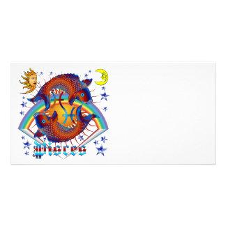 Pisces-Zodiac-V-1 Personalized Photo Card
