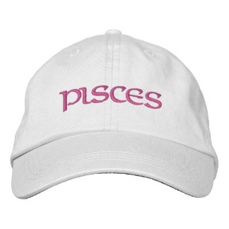 Pisces Zodiac White/Magenta Cap Baseball Cap
