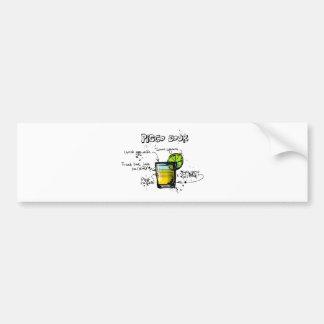 Pisco Sour Cocktail Recipe Bumper Sticker