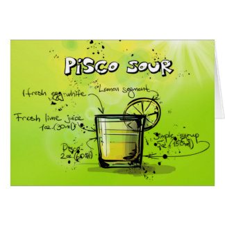 Pisco Sour Drink- Cocktail Gift Greeting Card