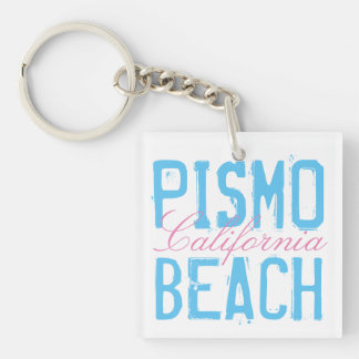 Pismo Beach California Double-Sided Square Acrylic Key Ring