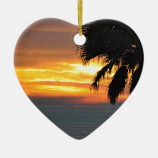 Pismo Beach Ceramic Heart Decoration