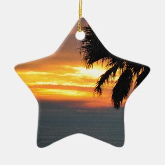 Pismo Beach Ceramic Star Decoration