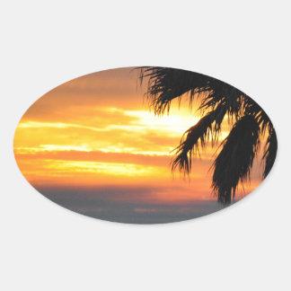 Pismo Beach Oval Sticker