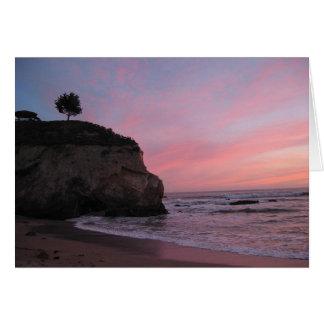 Pismo Beach Sunset Card