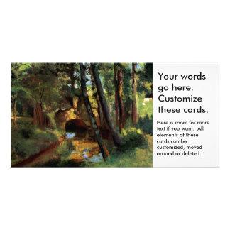 Pissarro landscapes bridge Pontoise France art Picture Card