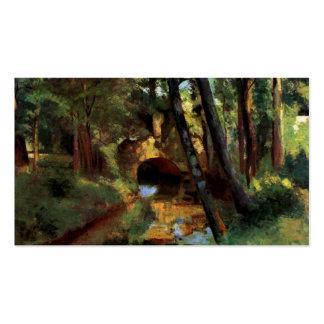 Pissarro painting small bridge Pontoise France art Pack Of Standard Business Cards