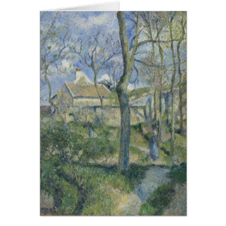 Pissarro: Path to Les Pouilleux (blank inside) Greeting Card