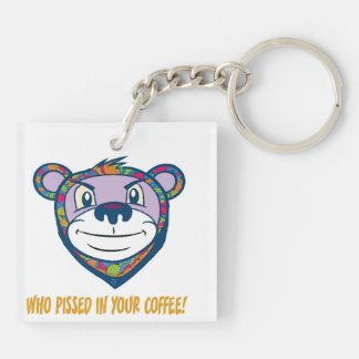 Pissed in your coffee key ring