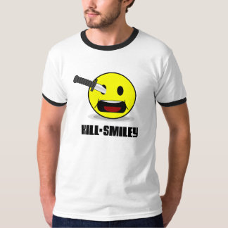 pissed off smiley T - Shirt - Kill Smiley white
