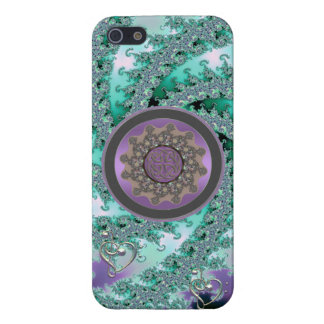 Pistachio Fractal Swirl with Celtic Mandala iPhone Cover For iPhone 5/5S
