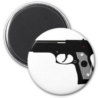 Pistol 6 Cm Round Magnet