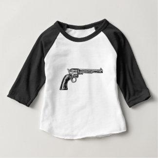 Pistol Gun Vintage Retro Woodcut Style Baby T-Shirt