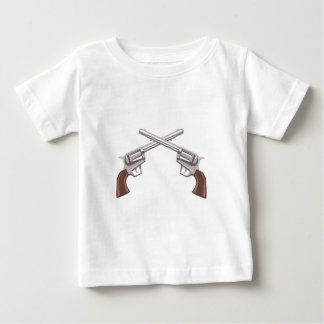 Pistol Handgun Drawing Isolated On White Backgroun Baby T-Shirt