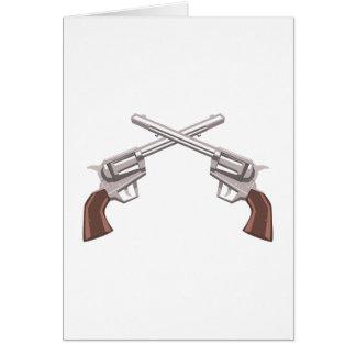 Pistol Handgun Drawing Isolated On White Backgroun Card