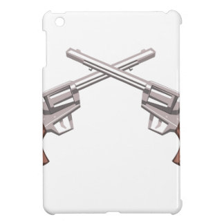 Pistol Handgun Drawing Isolated On White Backgroun iPad Mini Case