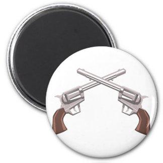 Pistol Handgun Drawing Isolated On White Backgroun Magnet