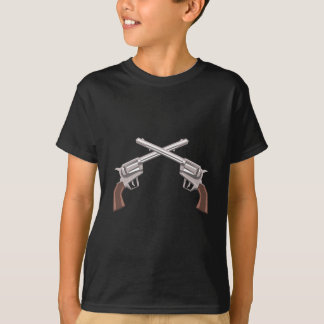Pistol Handgun Drawing Isolated On White Backgroun T-Shirt