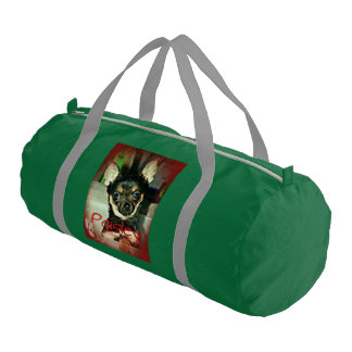 Pistol Packing Lady Paisley Marie Gym Duffel Bag