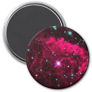 Pistol Star 7.5 Cm Round Magnet