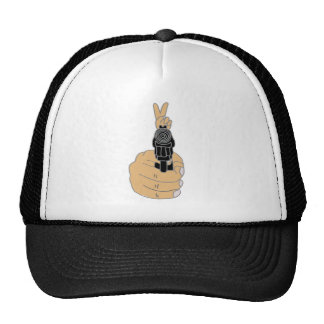 Pistol with Peace Sign Sight Cap