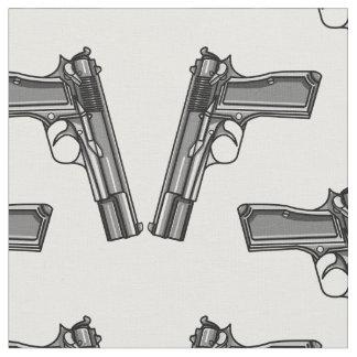 Pistols, Handgun Illustration Fabric