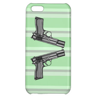 Pistols, Handgun Illustration iPhone 5C Covers
