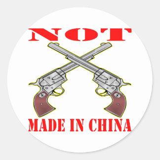 Pistols NOT Made In China Round Sticker