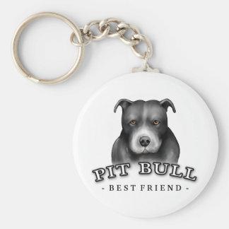 Pit Bull Art Custom Key Chain