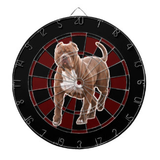 Pit bull brown dartboard