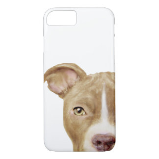 pit bull brown phone case